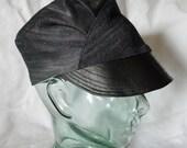 """Creators Blessing women's handmade reversible hat/crown (Large/23.75"""") from repurposed materials"""