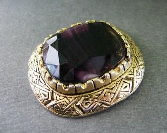 Pendant Vintage Violet Slag Glass