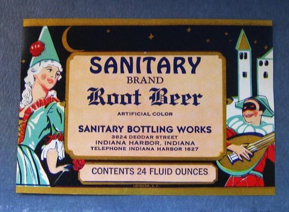 Sanitary Root Beer Label