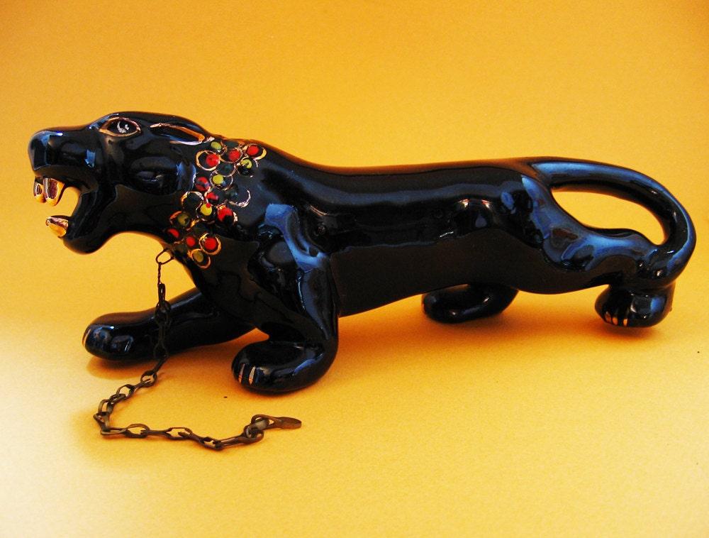 Black Panther Vintage Ceramic Mid Century