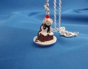 Brownie Fudge Sundae Necklace