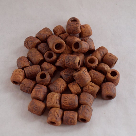 Beads handmade stoneware with 9mm holes