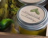 Mason jar canning labels - pickles - 12pc - regular or wide mouth
