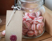 Gift tags - peppermint candy - 12pc