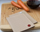 recipe cards or notecards - fruits & veggies - 10 card set
