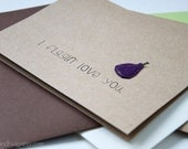 i figgin' love you - greeting card for sweethearts & fig-lovers