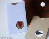 Tiny Pocket Valentine - winter faux bois