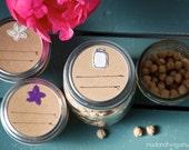 Mason jar labels - ball jar - 12 pc - regular or wide-mouth