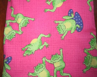 Cheerful Frog Plastic Lined Wet Bathing Suit Bag