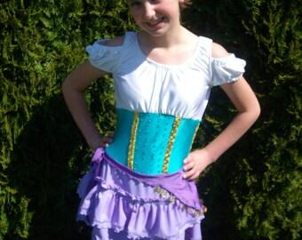 Disney Inspired - Esmeralda Gypsy Figure Skating Dress from Hunchback of Notre Dame Girls 2-14