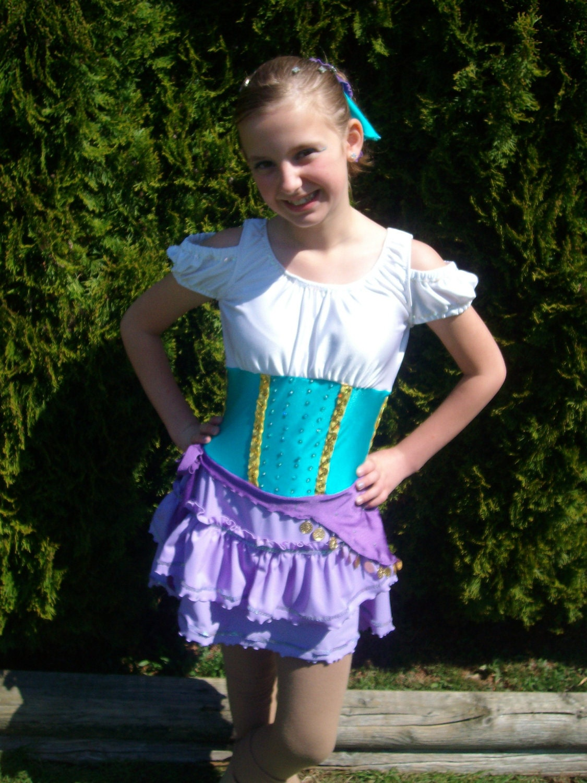 Disney Inspired Esmeralda Gypsy Figure Skating Dress From
