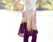 Vintage Inspired Ombre Circle Silk Skirt - Josephine