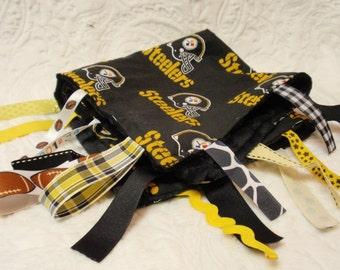 Pittsburgh Steelers Blankie with Ribbons