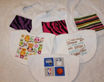 CUSTOM Bib - You Pick the Fabric and Cut