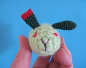 RESERVED FOR LEANNE Zombie bunny crocheted toy with egg