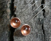 Copper and Sterling Silver Cold Joined, Kinetic Earrings