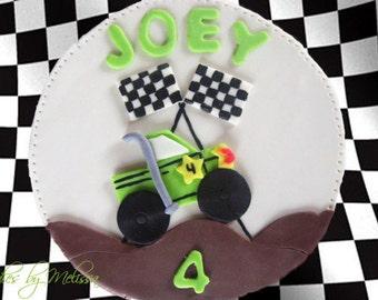 Fondant monster truck cake topper (EDIBLE)
