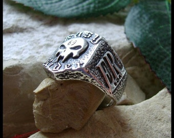 1er Outlaws 69 Jack Nicholson EASY RIDER HARLEY skull ring sterling silver 925