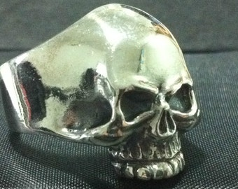 HARLEY skull  1 er one percenter pack pack mc clob sterling silver  BIKER OUTLAW ring in all size that you want