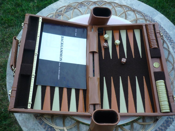 Vintage Aries Backgammon Youth or Adult  Board Game with Original Instruction Booklet