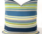 Decorative Designer Pillow Cover  - Indoor - Outdoor - On Both Sides - Stripes - 22x22 or 24x24 inches