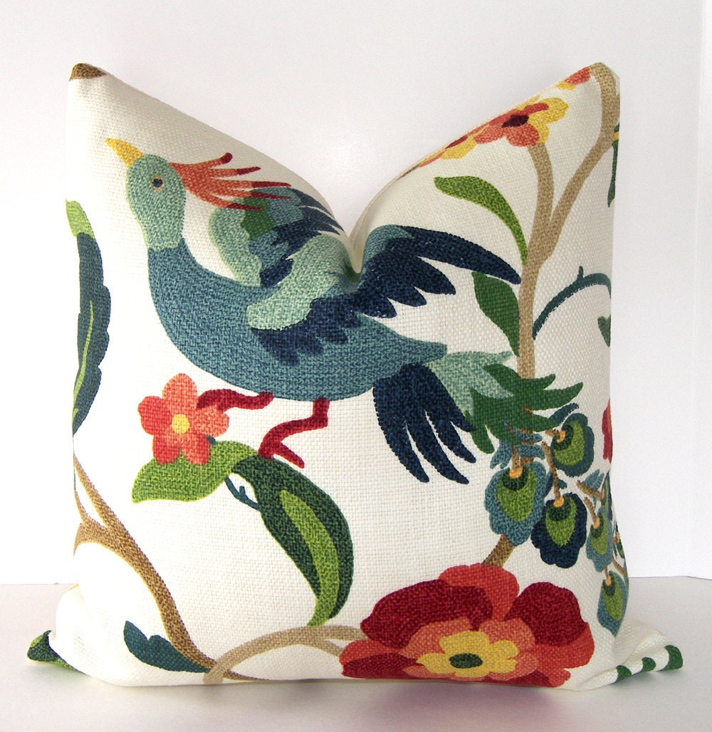 Decorative Pillows With Bird Design : Decorative Bird Pillow Cover Richloom Lucy Eden Accent