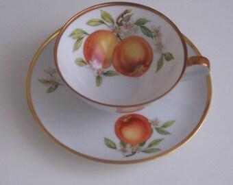 Hutschenreuther Gelb Apple Cup & Saucer