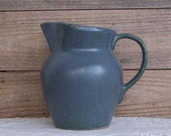 Robinson Ransbottom Pottery Co. Blue Stoneware Pitcher