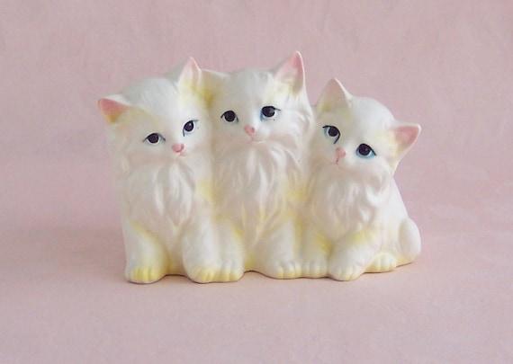 Adorable Vintage Kitten Planter