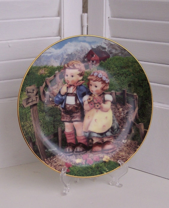 Sale - M.I. Hummel Country Crossroads Collectors Plate