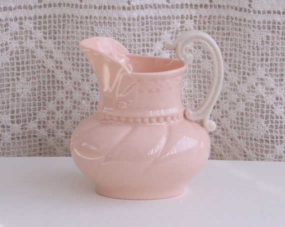 Lenox Pink Cream Pitcher from the Athens Collection