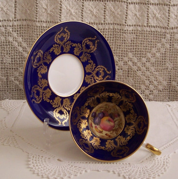 Reserve for Domenica - Do not purchase -  Aynsley Bone China Cobolt Cup & Saucer