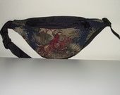 Equestrian Tapestry Horse Fox Hunt Scene Small Fanny Pack