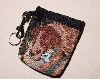 Dog Tapestry Puppy Dog Belt Pack/Key Chain Combo