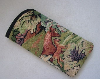 Tapestry Horse Mare Eyeglass/Sunglass Cases,Equestrian Glass Case,Horse Glass Cases