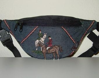 Tapestry Horse  Hunt Scene Small Fanny Pack