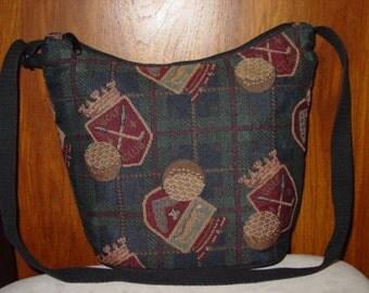 Golf Club,Golf Ball Classic Shoulder  Tapestry  Purse