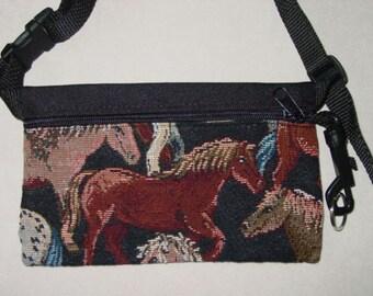Equestrian Horse Tapestry Travel-Lite Hip Pack,Equestrian Handbags