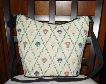 Flowers in the Bindweed Check  Classic Shoulder  Tapestry  Purse