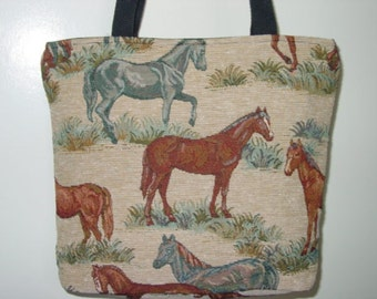 Horse Tapestry All in One Tote Bag and  Purse