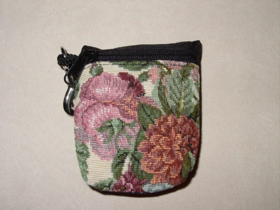 Flowers Tapestry  Belt Pack/Key Chain Combo