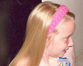 Crochet Cotton Headband for girls or ladies