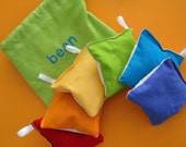 Rainbow Bean Bag Game Set with Embroidered Bag