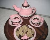 Neapolitan Crochet Tea Set