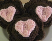 Chocolate Frosted Vanilla Cupcake -Set of 3