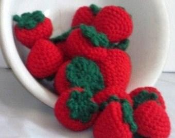 Pretend Play Strawberries-Half Dozen