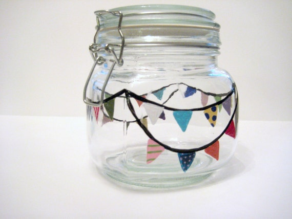 Storage Jar Canning Dog Cat Treats Cookies Hand Painted