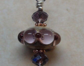Handcrafted 925 silver lampwork pendant