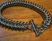 Galvanized Steel 16 Gauge 1/4 in. Chainmaille Bracelet