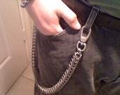 Box Pattern Galvanized Steel Chainmaille Wallet Chain, HALF OFF